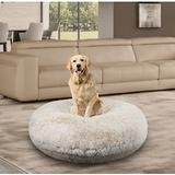 Bessie + Barnie Bagel Bolster Dog Bed w/Removable Cover, Blondie, Medium