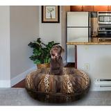 Bessie + Barnie Bagel Bolster Dog Bed w/Removable Cover, Wild Kingdom, Large