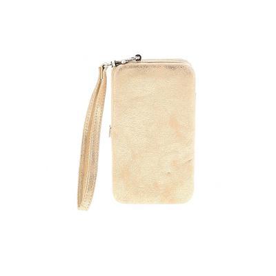 Wristlet: Gold Color Block Bags