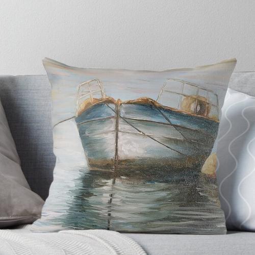 maritimes Motiv mit Boot Kissen