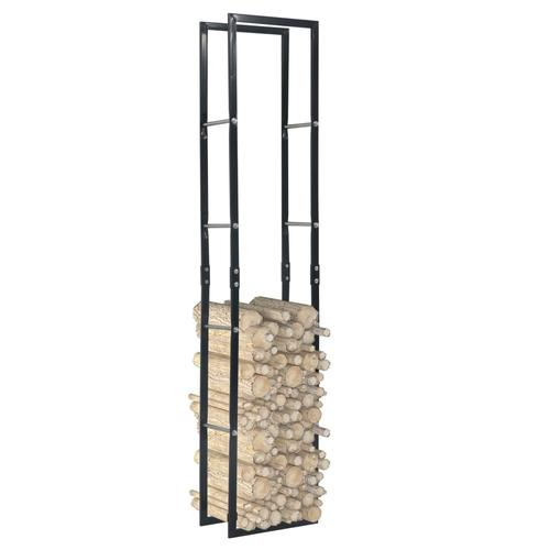 vidaXL Brennholzregal Schwarz 40×25×200 cm Stahl