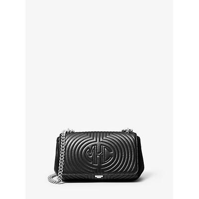 Michael Kors Monogramme Quilted Leather Shoulder Bag Black One Size