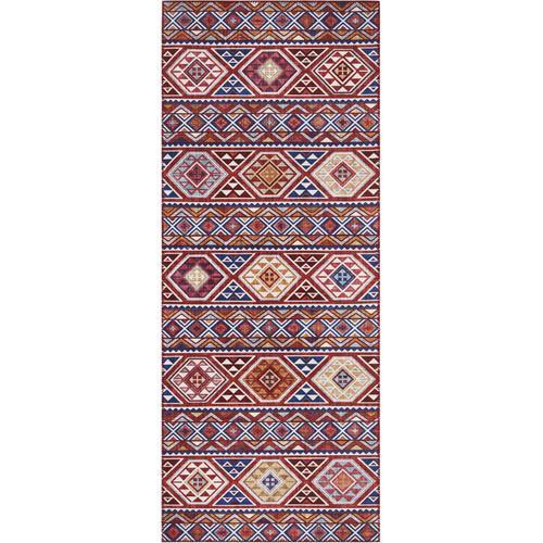 ELLE Decor Läufer Anatolian, rechteckig, 5 mm Höhe, Orient-Optik blau Teppichläufer Teppiche und Diele Flur