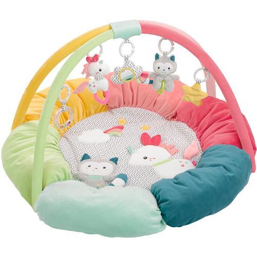 Fehn Spielbogen Aiko & Yuki 3-D-Activity-Nest, mit Nestchen bunt Kinder Activity Center Trapeze Baby Kleinkind
