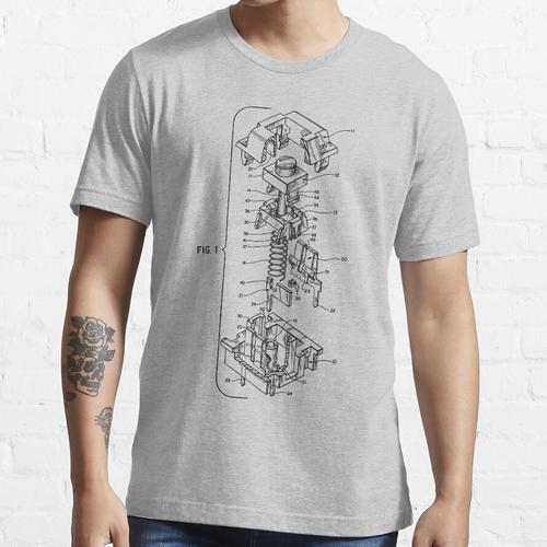 Mechanical Keyboard Key Patent Essential T-Shirt