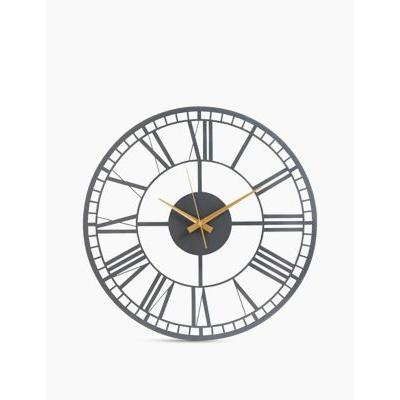 Marks & Spencer Metal Skeleton Wall Clock - Charcoal - One Size