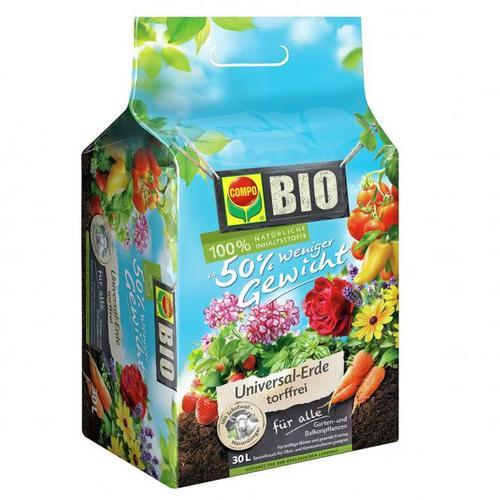 Bio Universal-Erde mit Schafwolle, 30 Liter
