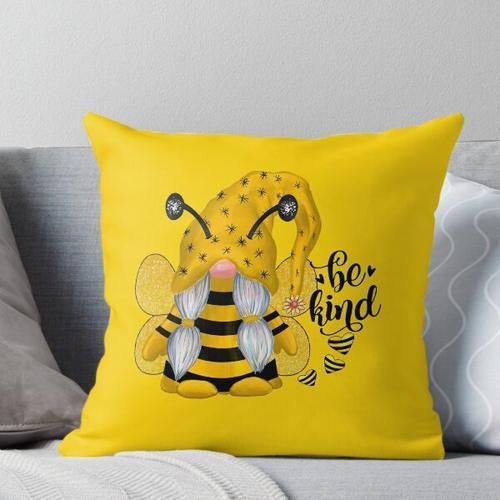 Bienenfreundlicher Gnom Kissen