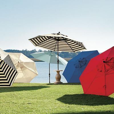 Auto Tilt Patio Umbrella Canvas Spa Sunbrella - Ballard Designs