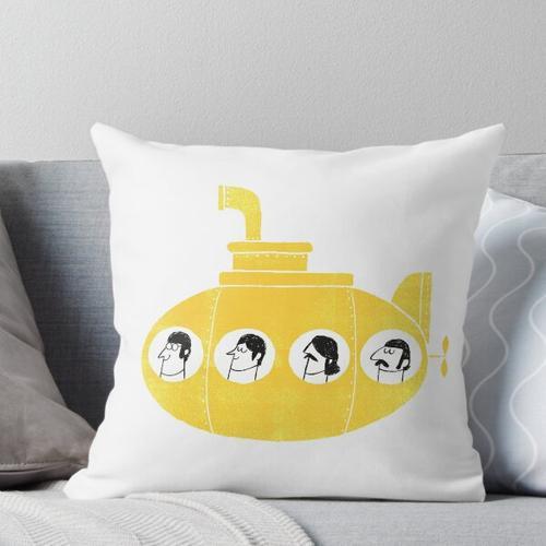 gelbes U-Boot Kissen