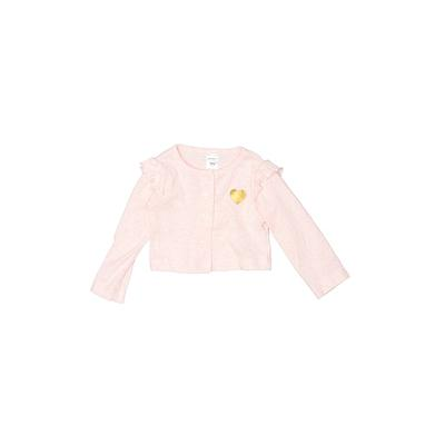 Carter's Cardigan Sweater: Pink Solid Tops – Size 9 Month