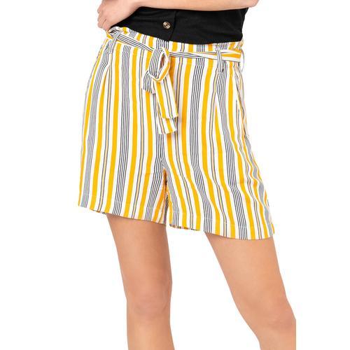 Fresh Made Shorts, mit Print und Gürtel gelb Damen Kurze Hosen Shorts