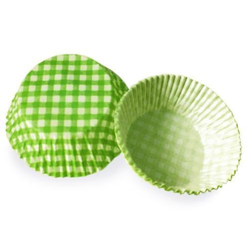 2000x Muffinkapseln Gebäckkapseln KARO grün O 50 x 30 mm