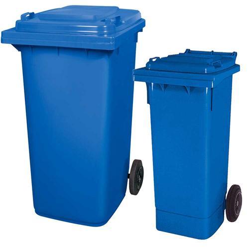 BRB Set mit 1x DIN Mülltonne 80 Liter blau und 1x DIN Mülltonne 240 Liter blau