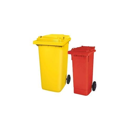 BRB Set mit 1x DIN Mülltonne 80 Liter rot und 1x DIN Mülltonne 240 Liter gelb