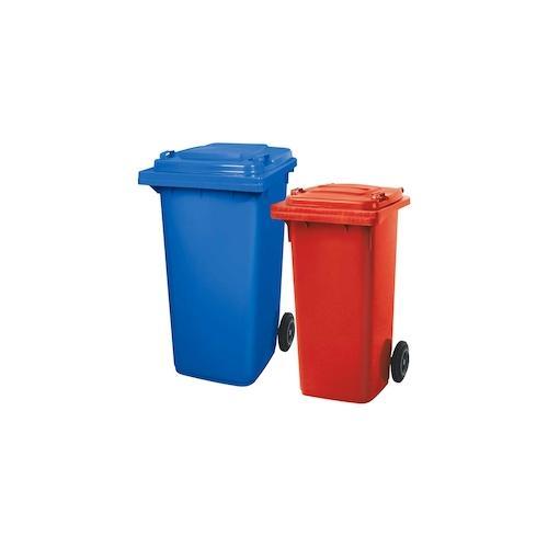 BRB Set mit 1x DIN Mülltonne 120 Liter rot und 1x DIN Mülltonne 240 Liter blau