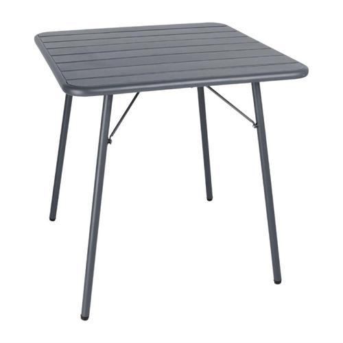 Bolero viereckiger Bistrotisch Stahl grau 70cm