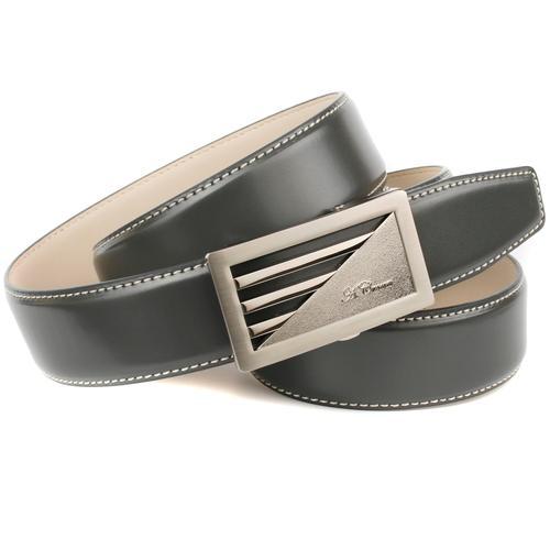 Anthoni Crown Ledergürtel, Automatik Ledergürtel grau Damen Gürtel Accessoires