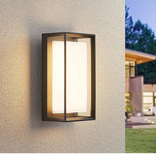 Lucande Ronida LED-Außenwandlampe, eckig