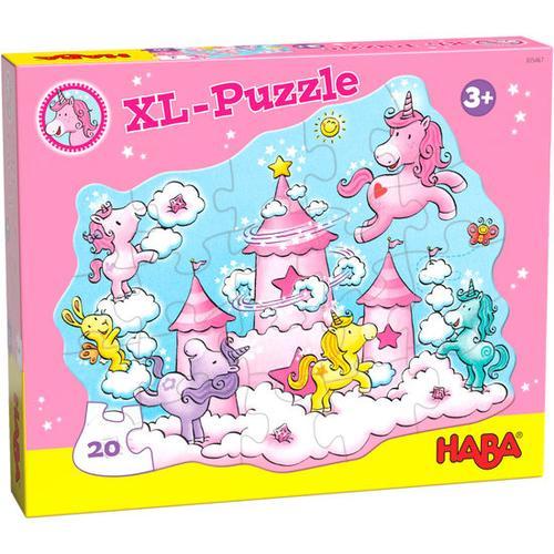 HABA XL-Puzzle Einhorn Glitzerglück – Wolkenpuzzelei, bunt
