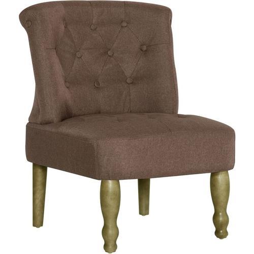 Französischer Stuhl Stoff Braun