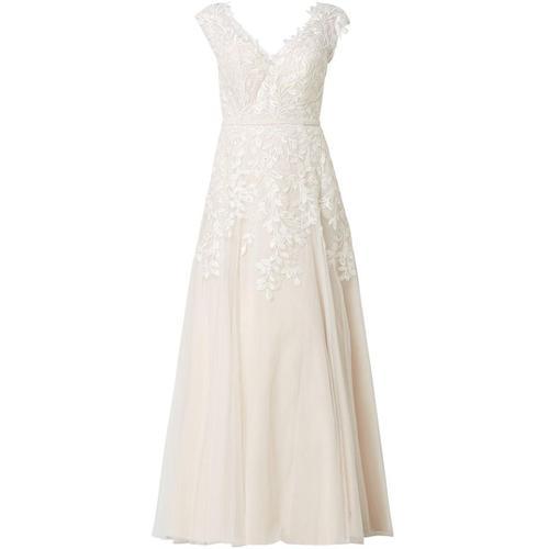 Luxuar Two-Tone-Brautkleid aus Tüll mit Stickereien
