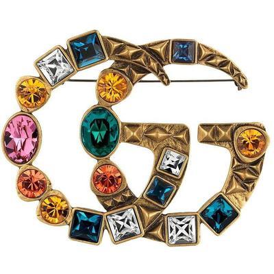 Gucci Broche GG ornée de cristaux