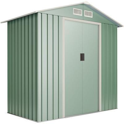 Abri de jardin Light Green S 2.2 m2 - Garantie 10 ans - 194x110x188cm. Remise métal - Wasabi