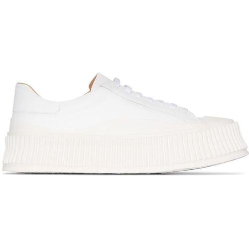Jil Sander Sneakers mit geriffelter Sohle