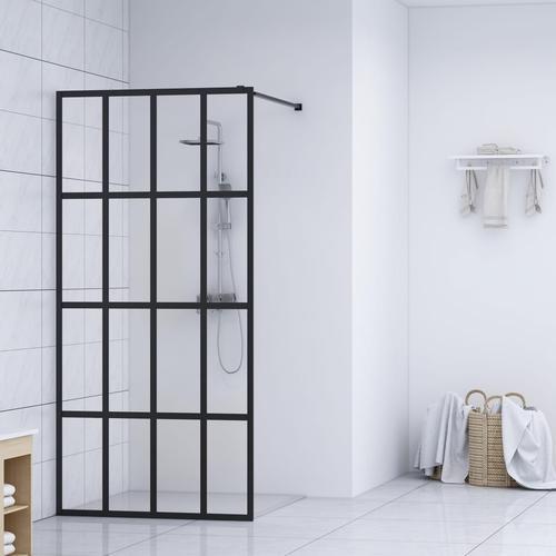 vidaXL Duschwand für Begehbare Dusche Hartglas 140×195 cm