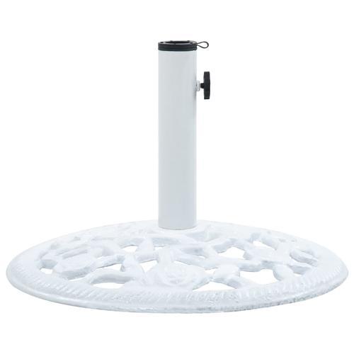 vidaXL Sonnenschirmständer Weiß 12 kg 48 cm Gusseisen