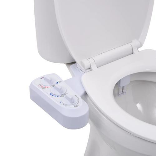 vidaXL Bidet-Aufsatz für Toilettensitz Heiß-/Kaltwasser Doppeldüsen