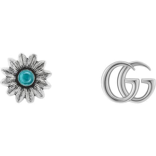Gucci Doppel G und Blumen Ohrstecker