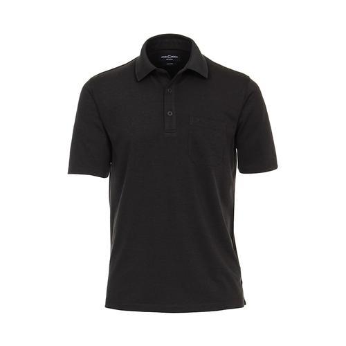 Polo-Shirt uni CASAMODA Grauschwarz