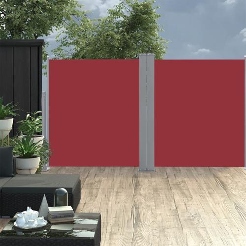vidaXL Ausziehbare Seitenmarkise Rot 160 x 600 cm