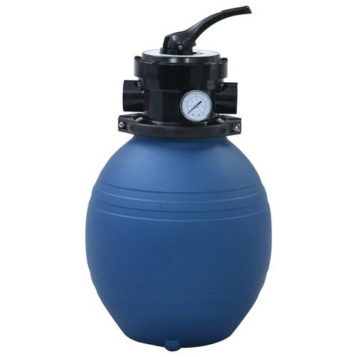 vidaXL Pool-Sandfilter mit 4-Wege-Ventil Blau 300 mm
