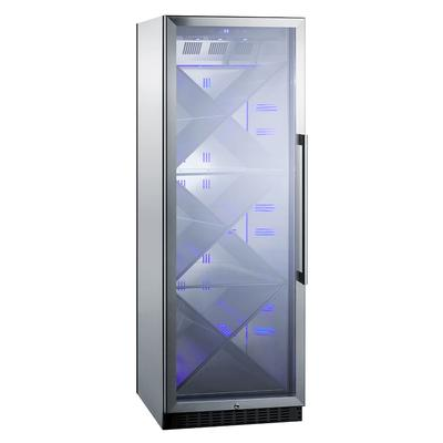 """Summit SCR1401LHXCSS 24"""" One Section Wine Cooler w/ (1) Zone - 80 Bottle Capacity, 115v"""
