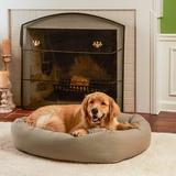 Happy Hounds Molly Rectangle Indoor & Outdoor Bumper Dog Bed w/ Removable Cover, Greystone, Medium/Large