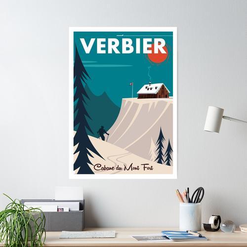 Verbier Mont Fort Poster Poster