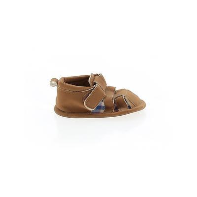 Booties: Brown Solid Shoes - Siz...