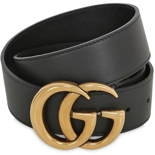 Gucci 40mm Breiter Ledergürtel