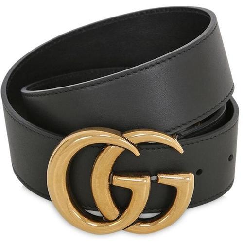 "Gucci 40mm Breiter Ledergürtel ""gg"""