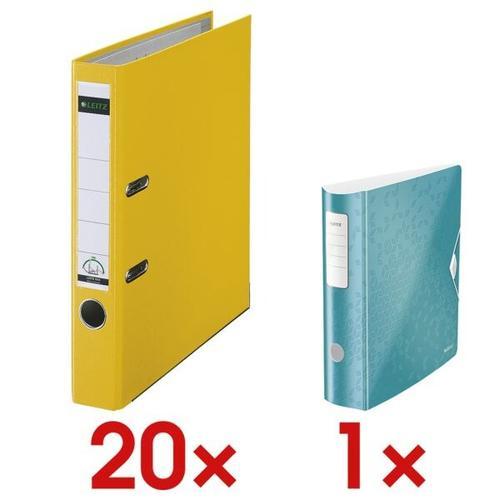20x Ordner »1015« inkl. Ordner »180° Active WOW 1106« gelb, Leitz, 5.2x31.8x28.5 cm