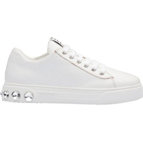 Miu Miu Sneakers mit Kristallnieten