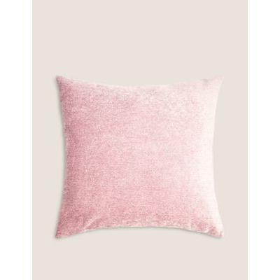 Marks & Spencer Chenille Cushion - Soft Pink - One Size