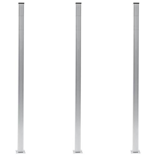 vidaXL Zaunpfosten 3 Stk. Aluminium 185 cm