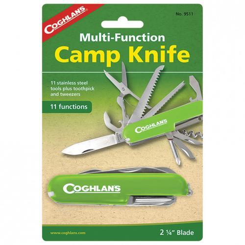 Coghlans - Taschenmesser 'Camp Knife' - Messer Gr 11 Funktionen grün/ silber