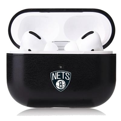 """""""OtterBox Black Brooklyn Nets Air Pods Leather Case"""""""