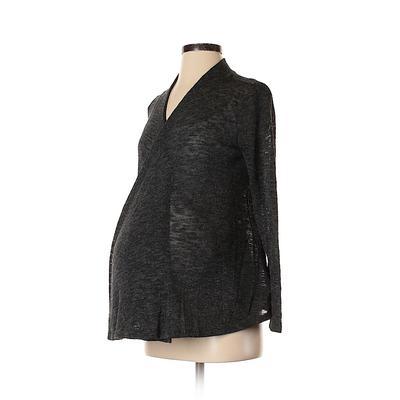 Old Navy - Maternity Cardigan Sweater: Gray Sweaters & Sweatshirts - Size X-Small Maternity