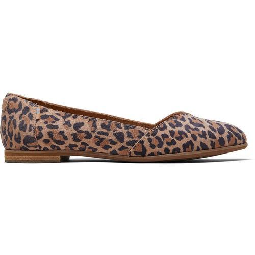 TOMS Leopard Suede Julie Ballerinas Für Schuhe